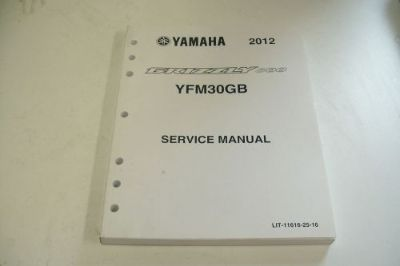 Sell YAMAHA ATV DEALER TECHNICAL SHOP SERVICE MANUAL YFM30GB 2012 GRIZZLY 300 motorcycle in Sunbury, Pennsylvania, United States, for US $59.95