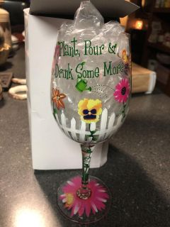 Plant, Pour & Drink Some More wine glass