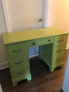 solid wood desk great storage great bones $75 OBO