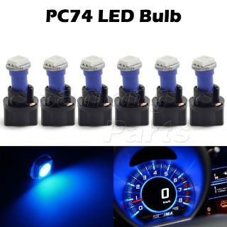 Purchase 6 T5 Twist Socket Instrument Panel Cluster Plug Blue Dash Light Bulb 74 73 motorcycle in Cupertino, CA, US, for US $5.99