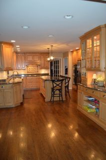 Complete Custom Kitchen Cabinet Set, Appliances, Countertops, Island, Chairs, Stools