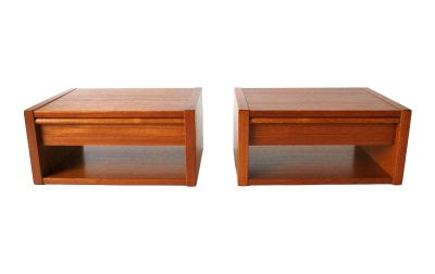 Modernist Poul Hundevad Teak Floating Shelf/Tables