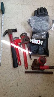 Tools, misc#2, HD Hydraulic Jack, HD Pipe Wrench, electrical & more