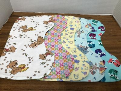 SET OF 5 BABY BURP CLOTHES