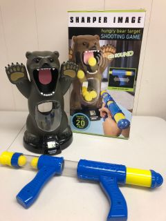 Sharper image hungry bear shooting game