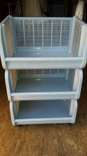 KITCHEN BLUE CART/STORAGE WITH WHEELS