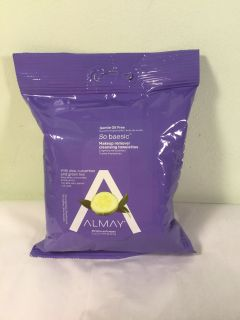 Almay Gentle oil free makeup remover cleansing towelettes, 25 count
