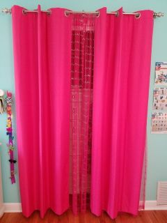 Hot Pink Curtains and Sheers