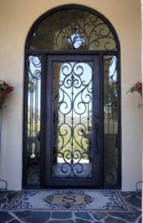 Metal framed glass door