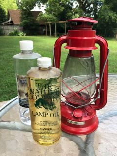 Vintage Camping Lantern with Oil