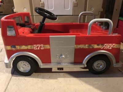 Fire truck ride on pedal car