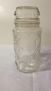 Fruit decor glass container with rubber sealed lid