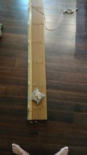 Wood blinds length 73 inches... Used on sliding patio door
