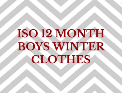 I am looking for 12 month winter clothes for a baby boy