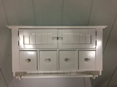 Wall Cabinet with towel rod