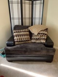 less than a year old couch and love seat living room set