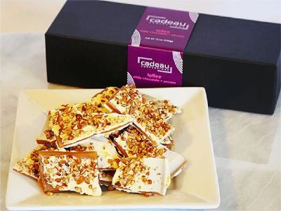 White Chocolate Pecan Toffee - 12 oz Gift Box Regular in only $28.00