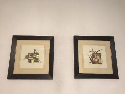 Gilded Floral set of 2 antique frames. Great condition