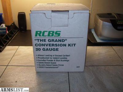 For Sale: RCBS Grand 20ga Conversion Head Kit NIB 89005
