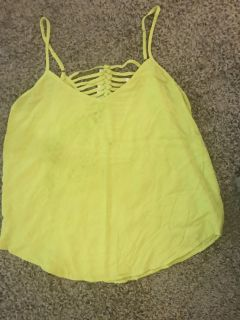 Yellow flowing tank bought and never worn from Stich Fix