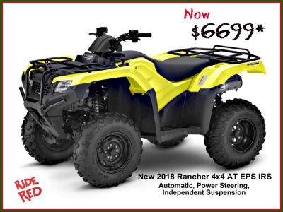 2018 Honda FourTrax Rancher 4x4 DCT IRS EPS ATV Utility ATVs Erie, PA