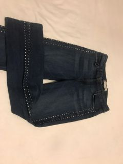 Cookie Johnson. Size 10 Studded Stretchy Jeans. Photo of Back Attached. EUC