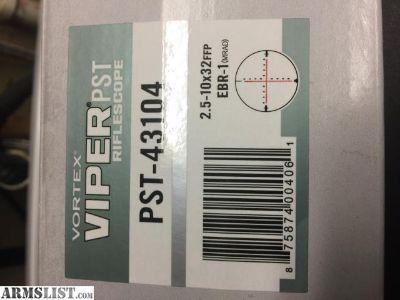 For Sale: Vortex Viper PST 2.5-10