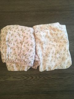 Fitted sheet for crib mattress and changing pad cover