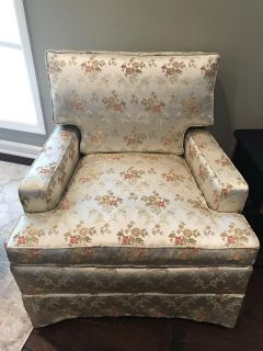 Absolutely Gorgeous Silk mid- Century Style Club Chair