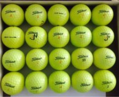 20 Titleist DT Truesoft and DT Solo Yellow golf balls near mint condition n