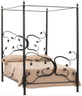 Queen Wrought Iron Canopy Bed Frame