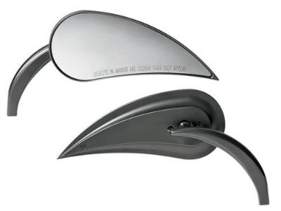 Purchase Arlen Ness Black Pair 2 Teardrop Rad III Mirrors Harley Touring Softail Dyna motorcycle in Cincinnati, Ohio, US, for US $119.95