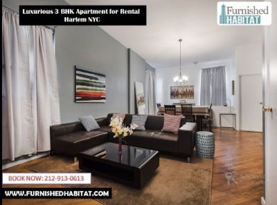 Rent Furnished Apartment on Short-term in Harlem, NYC