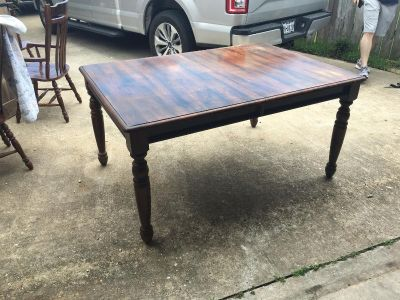 Farmhouse Solid Wood Table w/ 4 Chairs