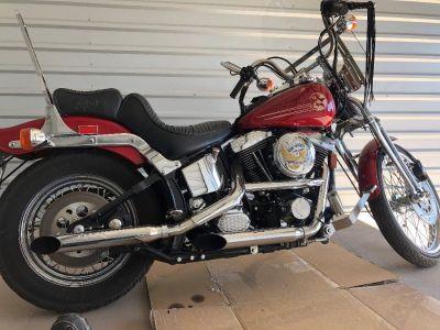 Red Springer Soft tail Custom Harley