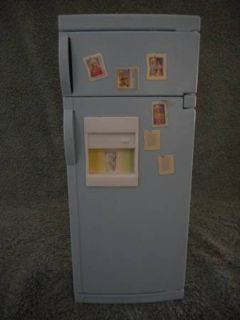 Barbie Blue Refrigerator & School Locker Green Vintage