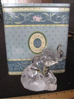 *~~ Lenox ~ Crystal Elephant ~ Figurine/Sculpture ~ German Crystal ~~*
