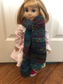 Crochet scarf for American Girl/My life Doll.