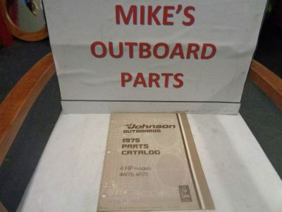 Buy 1975 JOHNSON OUTBOARD 4HP PARTS CATALOG @@@CHECK THIS OUT@@@ motorcycle in Atlanta, Georgia, United States, for US $14.99
