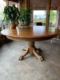 Antique Oak Table with leaf