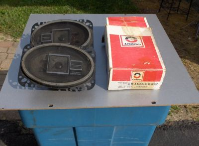 "PAIR OF NEW DELCO 4 X 6 "" SPEAKERS"