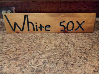White Sox Wooden Sign