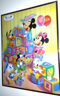 Disney Babies Poster Framed Print / Baby Mickey Collection