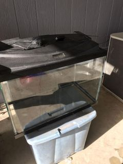 20 Gallon Fish Aquarium With Hood With LED Lights