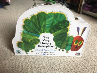 Two Sided Very Hungry Caterpillar Floor Puzzle