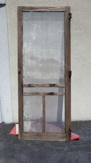 Vintage screen door screen perfect great porch decor 33x80