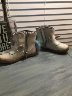 Adorable Toddler Girl Unicorn Boots (size