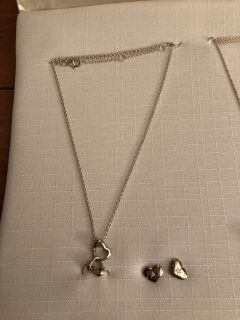 NWOT gold plated necklace and earring set. Rep sample. Ppu
