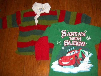 18 month boys Christmas shirts