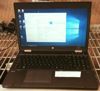 "hp ProBook 6565b 15.4"" widescreen, AMD A4, 4GB RAM, 250 HDD, Win10"